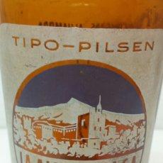 Coleccionismo de cervezas: BOTELLA DE CERVEZA LA ALHAMBRA 33CL TIPO PILSEN SERIGRAFÍA EN BLANCO ESCASA. Lote 72057487