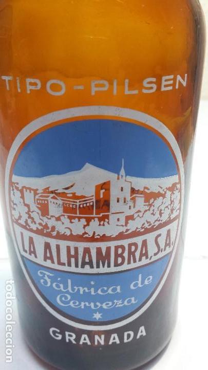 Coleccionismo de cervezas: Botella de Cerveza La Alhambra Tipo Pilsen 66 CL Escasa modelo 2 - Foto 5 - 169758572