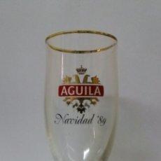 Coleccionismo de cervezas: COPA CERVEZA AGUILA EDICION NAVIDAD 1989. Lote 74000733