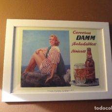 Coleccionismo de cervezas: CUADRO ARCHIVO HISTÓRICO DAMM EDICIÓN EXCLUSIVA. Lote 74614707