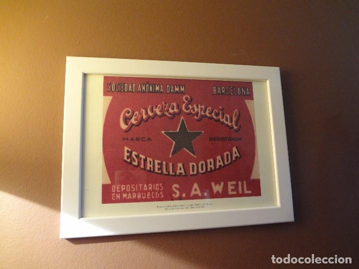 Coleccionismo de cervezas: Cuadro archivo histórico DAMM Edición exclusiva - Foto 2 - 74615003