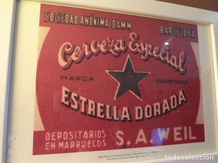 Coleccionismo de cervezas: Cuadro archivo histórico DAMM Edición exclusiva - Foto 5 - 74615003