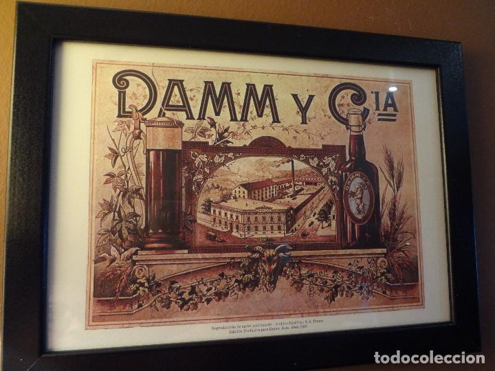 Coleccionismo de cervezas: Cuadro archivo histórico DAMM Edición exclusiva - Foto 5 - 74615695