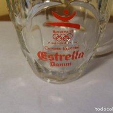 Coleccionismo de cervezas: JARRA ESTRELLA DAMM OLIMPIADAS 1992 BARCELONA. Lote 74874967