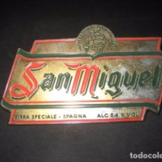Coleccionismo de cervezas: CHAPA METAL CERVEZA SAN MIGUEL. CERVEZAS. Lote 75164667