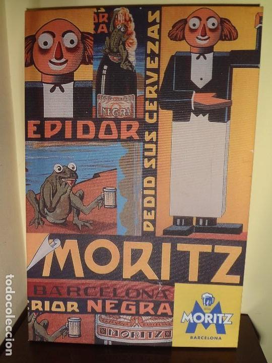 Coleccionismo de cervezas: Cuadro lienzo cerveza moritz - Foto 2 - 137820900