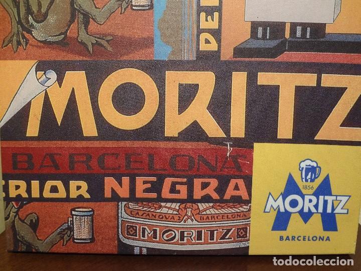 CUADRO LIENZO CERVEZA MORITZ (Coleccionismo - Botellas y Bebidas - Cerveza )
