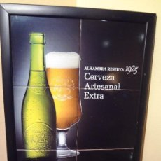 Coleccionismo de cervezas: CUADRO CERVEZA ALHAMBRA RESERVA 1925 DE CERAMICA DE AZULEJOS.M. Lote 146945622