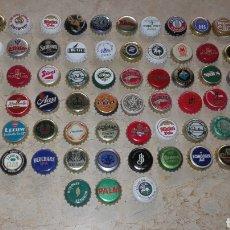 Coleccionismo de cervezas: LOTE DE 75 CHAPAS CERVEZA TAPÓN CORONA EXTRANJERAS. Lote 75411783