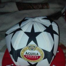 Coleccionismo de cervezas: GORRO CHAMPIONS LEAGUE DE CERVEZA AGUILA AMSTEL. Lote 29467152