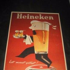 Coleccionismo de cervezas: CARTEL PUBLICITARIO DE CERVEZA HEINEKEN. CERVEZAS. Lote 77835521