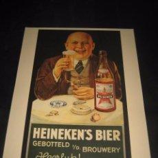 Coleccionismo de cervezas: CARTEL PUBLICITARIO DE CERVEZA HEINEKEN'S. CERVEZAS. Lote 77835653