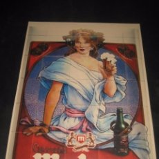Coleccionismo de cervezas: CARTEL PUBLICITARIO DE CERVEZA MAHOU. CERVEZAS. Lote 98023783