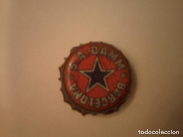 TAPON ANTIGUO CERVEZA S.A.DAMM BARCELONA (Coleccionismo - Botellas y Bebidas - Cerveza )