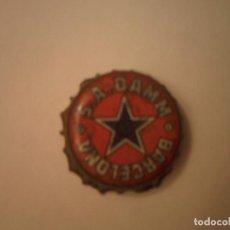 Coleccionismo de cervezas: TAPON ANTIGUO CERVEZA S.A.DAMM BARCELONA. Lote 78050777