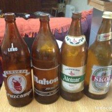 Coleccionismo de cervezas: BOTELLAS 1 LITRO MAHOU SKOL Y CRUZCAMPO. Lote 80060301