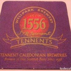 Coleccionismo de cervezas: POSAVASOS CERVEZA TENNENTS. Lote 82499296