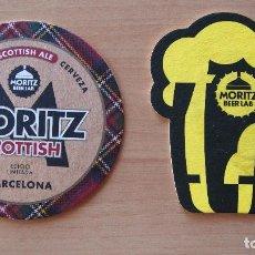 Coleccionismo de cervezas: 3 POSAVASOS CERVEZA MORITZ. MORITZ SCOTTISH. MORITZ BEER LAB. POSAVASO. VER FOTOGRAFIAS. Lote 83788200