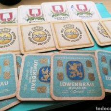 Coleccionismo de cervezas: LOTE DE 16 POSAVASOS DE CERVEZA ALEMANA. LOWENBRAU, WARFEINER Y SPATEN. AÑOS 70. Lote 84100334