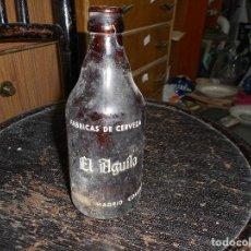 Coleccionismo de cervezas: BOTELLA CERVEZA EL AGUILA VALENCIA MADRID CORDOBA. Lote 85139100