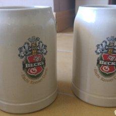 Coleccionismo de cervezas: JARRAS CERAMICA BECKS. Lote 85303180