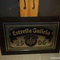 Coleccionismo de cervezas: IMPRESIONANTE Y GRAN CUADRO VINILO CERVEZA ESTRELLA GALICIA 1906 GRAN PIEZA DE COLECCIONISMO. Lote 107345504