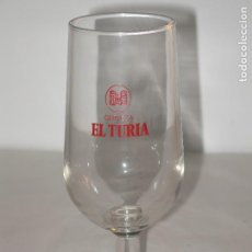 Coleccionismo de cervezas: ANTIGUA COPA CERVEZA EL TURIA. Lote 85884768