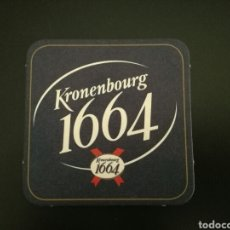 Coleccionismo de cervezas: POSAVASOS KRONENBOURG 1664. Lote 86044075