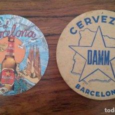 Coleccionismo de cervezas: POSAVASOS CERVEZA CERVEZAS DAMM ESTRELLA THE BEER OF BARCELONA. POSAVASO. Lote 86927492