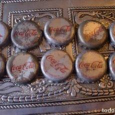 Coleccionismo de cervezas: CHAPA CORONA COCACOLA MALAGA NO CERVEZA LOTE DE 10. Lote 87057400