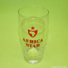 Coleccionismo de cervezas: VASO CERVEZA AFRICA STAR. CERVEZAS. SERIGRAFIA PERFECTA Y VASO COMO NUEVO. Lote 87371088