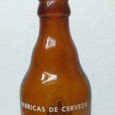 Coleccionismo de cervezas: BOTELLA DE CERVEZA EL ÁGUILA SERIGRAFÍA EN BLANCO 33 CL. Lote 274004858