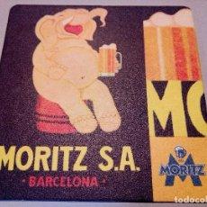 Coleccionismo de cervezas: POSAVASOS CERVEZA MORITZ. Lote 109185186