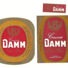 Coleccionismo de cervezas: LOTE ETIQUETAS DAMM. Lote 90218584