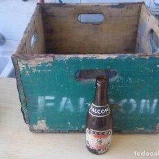 Coleccionismo de cervezas: ESPECTACULAR Y DIFICIL CAJA CERVEZA FALCON MALLORCA POR PRIPPS ESPAÑOLA NUNCA VISA ANTES POCA TIRADA. Lote 91010235