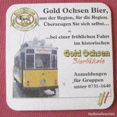 Coleccionismo de cervezas: GOLD OCHSEN - POSAVASOS DE CERVEZA - TRANVÍA. Lote 92314230