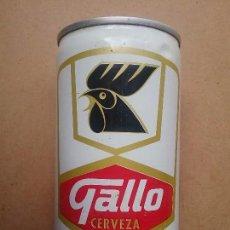 Coleccionismo de cervezas: LATA DE CERVEZA GALLO VENEZUELA ACERO CURVO AÑOS '70. Lote 92909180