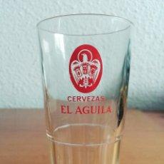 Coleccionismo de cervezas: VASO PUBLICIDAD CERVEZAS EL ÁGUILA - CERVEZA CRISTALERIA VINTAGE. Lote 92976689