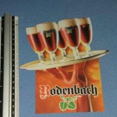 Coleccionismo de cervezas: ADHESIVO PEGATINA ORIGINAL CERVEZA RODENBACH EXCELENTE ESTADO . Lote 94402558
