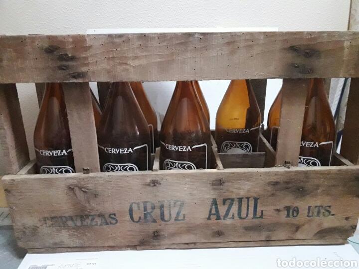 CAJA CERVEZA CRUZ AZUL VACIA (Coleccionismo - Botellas y Bebidas - Cerveza )