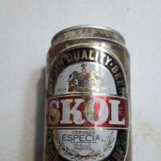 Coleccionismo de cervezas: LATA BOTE ANTIGUO DE CERVEZA SKOL AÑOS 90. Lote 95313066