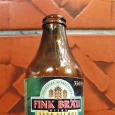 Coleccionismo de cervezas: BOTELLA DE CERVEZA SIN ALCOHOL FINK BRÄU CON ETIQUETA (33 CL.) (CAD. 2002). Lote 95506423