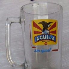 Coleccionismo de cervezas: ANTIGUA JARRA DE CRISTAL CERVEZA EL AGUILA. Lote 95562059