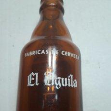 Coleccionismo de cervezas: BOTELLA DE CERVEZA EL AGUILA 20CL SERIGRAFÍA EN BLANCO. Lote 182893065