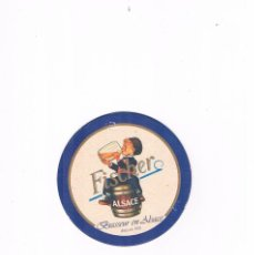 Coleccionismo de cervezas: POSAVASOS ANTIGUO CERVEZA FISCHER ALSACE. Lote 96817795