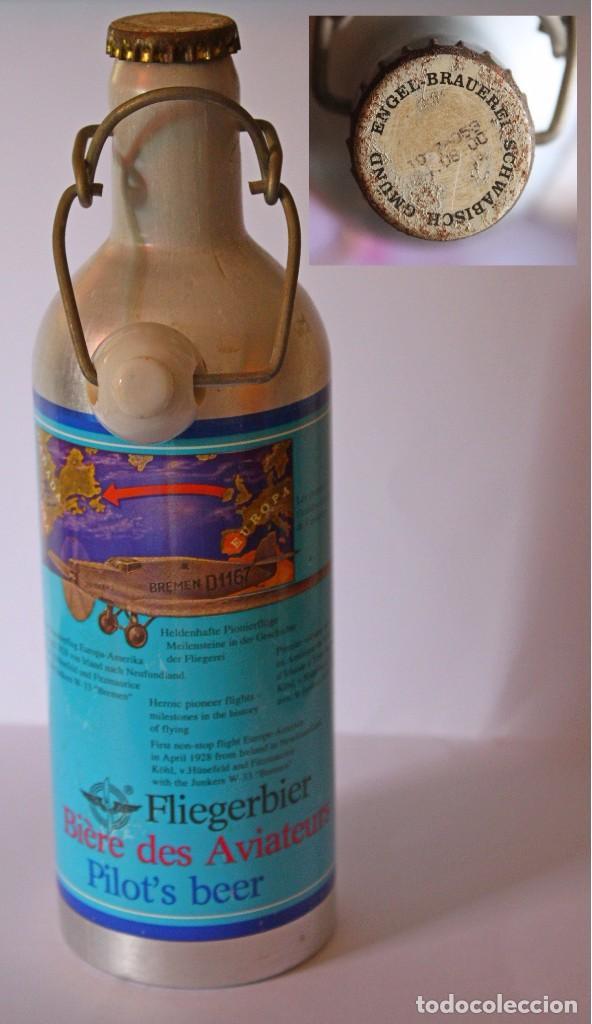 BOTELLA ALUMINIO FLIEGERBIER (Coleccionismo - Botellas y Bebidas - Cerveza )