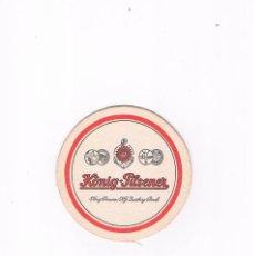 Coleccionismo de cervezas: POSAVASOS ANTIGUO CERVEZA BEER KONIG PILSENER. Lote 96819523
