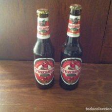 Coleccionismo de cervezas: 2 BOTELLAS CRUZCAMPO EDICIÓN NAVIDAD AÑOS 95 Y 97. Lote 97278207