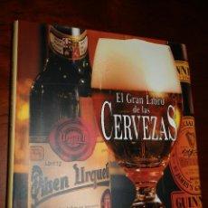 Coleccionismo de cervezas: EL GRAN LIBRO DE LAS CERVEZAS,GILBERT DELOS,2002,CARTON SOBRECUBIERTA,30X25, 254PP. Lote 97799587