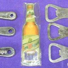 Coleccionismo de cervezas: ABREBOTELLAS ABRIDOR ABRIDORES CERVEZA CRUZCAMPO CERVEZAS ESTRELLA SUR DAMM SAN MIGUEL MAHOU ALCAZAR. Lote 98058251